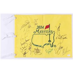 2014 Masters Golf Pin Flag Signed by (14) With Jordan Spieth, Mark O'Meara, Angel Cabrera, Adam Scot