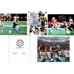 Lot of (3) Chicago Bears Signed Mystery 8x10 Photo – 1985 World Champions Edition – Series 1 - (