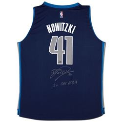 "Dirk Nowitzki Signed Mavericks Limited Edition Adidas Jersey Inscribed ""12x All NBA"" (UDA COA)"