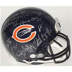 1985 Bears Full-Size Authentic On-Field Helmet Team-Signed by (29) with Dan Hampton, Jim McMahon, Mi