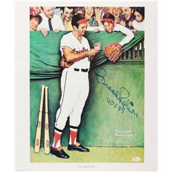 "Brooks Robinson Signed Orioles ""Gee Thanks, Brooks!"" 18x21 Norman Rockwell Lithograph Inscribed ""HOF"