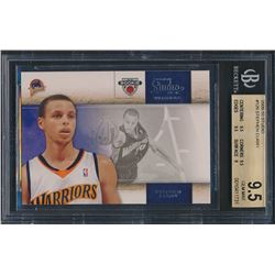 2009-10 Studio #129 Stephen Curry RC (BGS 9.5)