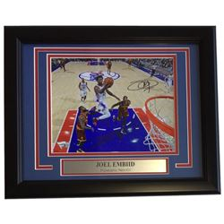 Joel Embiid Signed 76ers 11x14 Custom Framed Photo Display (Fanatics Hologram)