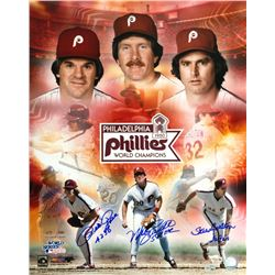 Pete Rose, Mike Schmidt  Steve Carlton Signed Phillies 16x20 Photo (Fanatics  MLB Hologram)