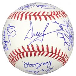 1980 Phillies OML Baseball Signed by (24) with Bob Boone, Larry Christenson, Garry Maddox, Kevin Sau
