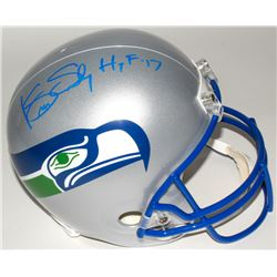 "Kenny Easley Signed Seahawks Full-Size Throwback Helmet Inscribed ""HOF '17"" (JSA COA)"