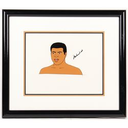 "Muhammad Ali Signed ""I Am the Greatest: The Adventures of Muhammad Ali"" 17x19.5 Custom Framed Animat"