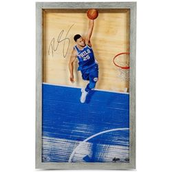 "Ben Simmons Signed 76ers ""Great From Above"" 18x30 Custom Framed Limited Edition Acrylic Display (UDA"