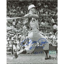 "Pete Rose Signed Reds 8x10 Photo Inscribed ""Hit King""  ""4256"" (Radtke Hologram)"