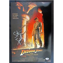 "Steven Spielberg ""Indiana Jones: Temple of Doom"" 11x17 Movie Poster (PSA Hologram)"