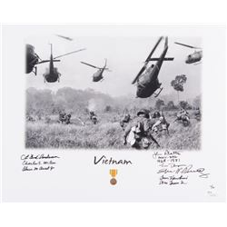 """""""Vietnam"""" LE 11x14 Photo Signed by (7) With Bud Anderson, Steve Pisanos, Tom Hawkins, John Plaster W"""