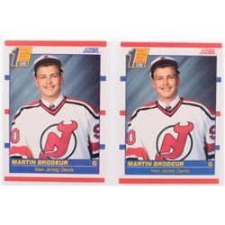 Lot of (2) Martin Brodeur Hockey Cards with #439 Martin Brodeur RC  Canadian #429 Maetin Brodeur RC