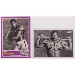Lot of (2) Bo Jackson Football Cards with 1990 Score #697  1989 Score #384S