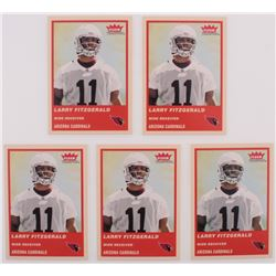 Lot of (5) 2004 Fleer Tradition #332 Larry Fitzgerald RC