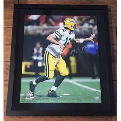 Aaron Rodgers Signed Packers 24x28 Custom Framed Limited Edition Photo (Steiner COA)