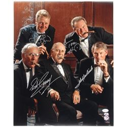 """""""Celtics Hall of Famers"""" 16x20 Photo Signed by (4) With Larry Bird, Tom Heinsohn, Bob Cousy,  John H"""