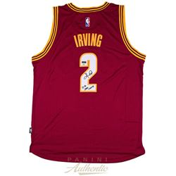 """Kyrie Irving Signed Cavaliers LE Jersey Inscribed """"15-16 NBA Champ"""" (Panini COA)"""