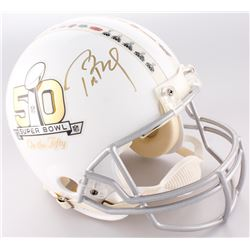 Tom Brady Signed Patriots LE Super Bowl 50 Full-Size Authentic On-Field Helmet (Steiner COA  TriStar