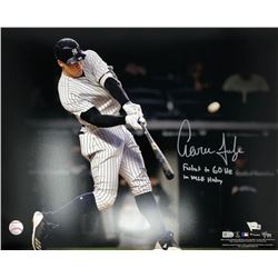 """Aaron Judge Signed Yankees 16x20 Limited Edition Photo Inscribed """"Fastest to 60 HR in MLB History"""" ("""