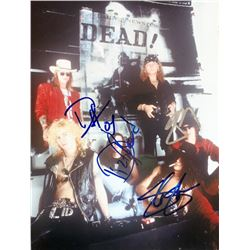 Guns N' Roses Band-Signed 8x10 Photo with (4) Signatures Including Slash, Duff McKagan, Dizzy Reed