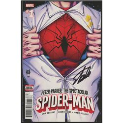 "Stan Lee Signed 2017 ""Spider-Man"" Issue #1 Marvel Comic Book (Lee COA)"