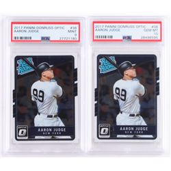 Lot of (2) 2017 Donruss Optic #38 Aaron Judge RR RC (PSA 10)