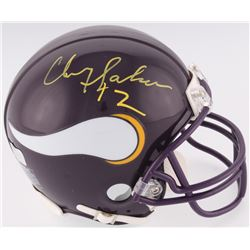 "Chris Doleman Signed Vikings Mini-Helmet Inscribed ""12"" (Radtke COA)"