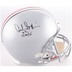 """Archie Griffin Signed Ohio State Buckeyes Full-Size Helmet Inscribed """"H.T. 1974/75"""" (Radtke COA)"""