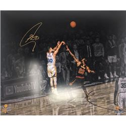 "Stephen Curry Signed Warriors ""Three Point Shot"" 20x24 Limited Edition Photo (Steiner COA)"