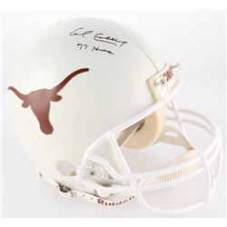 "Earl Campbell Signed Texas Longhorns Authentic On-Field Full-Size Helmet Inscribed ""77 Heisman"" (JSA"