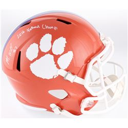 """Mike Williams Signed Clemson Tigers Full-Size Speed Helmet Inscribed """"2016 National Champs"""" (Fanatic"""