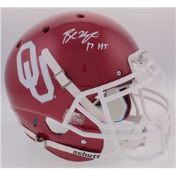"Baker Mayfield Signed Oklahoma Sooners Full-Size Authentic On-Field Helmet Inscribed ""17 HT"" (Becket"