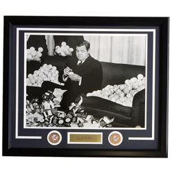 Babe Ruth 22x27 Custom Framed Photo Display with Laser Engraved Signature