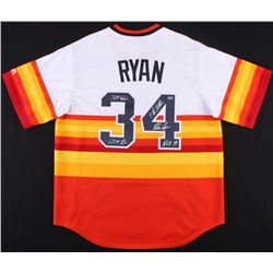 Nolan Ryan Signed Astros Throwback Jersey Inscribed With Multiple Inscriptions (MLB Hologram  Ryan H