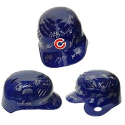 2016 Cubs Authentic Full-Size Batting Helmet Team-Signed by (22) With Ben Zobrist, Addison Russell,