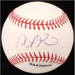 Steve Pearce Signed OML Baseball (UDA COA  MLB Hologram)
