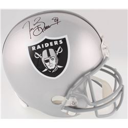 Tim Brown Signed Raiders Full-Size Helmet (Brown Hologram)