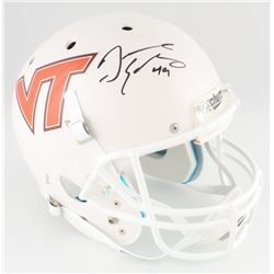 Tremaine Edmunds Signed Virginia Tech Hokies Full-Size Helmet (Radtke COA)