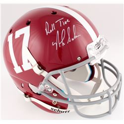 "Nick Saban Signed Alabama Crimson Tide Full-Size Helmet Inscribed ""Roll Tide"" (Radtke COA)"