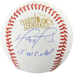 "David Ortiz Signed 2013 World Series Baseball Inscribed ""2013 WS MVP"" (Fanatics Hologram)"