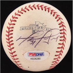 David Ortiz Signed Red Sox 2013 Official Postseason Game-Used Baseball (PSA COA  MLB Hologram)