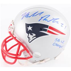 "Malcolm Butler Signed Patriots Mini Helmet Inscribed ""SB LI Champs!"" (Steiner COA)"