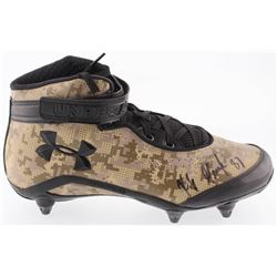 Rob Gronkowski Signed Under Armour Football Cleat (JSA COA  Sure Shot COA)