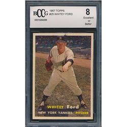 1957 Topps #25 Whitey Ford (BCCG 8)
