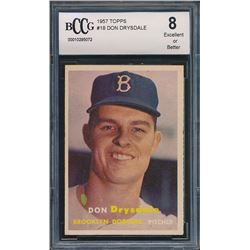 1957 Topps #18 Don Drysdale RC (BCCG 8)