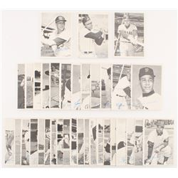Set of (35) 1969 Deckle Set Baseball Cards with #33 Willie Mays, #27 Roberto Clemente, #21 Pete Rose