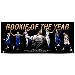 """Ben Simmons Signed 76ers """"Rookie Of The Year"""" 15x36 Photo (UDA COA)"""