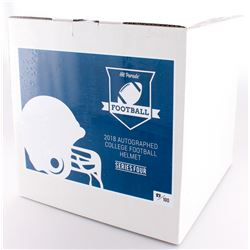 Hit Parade Autographed College Football Helmet Mystery Box- 2018 Series 4