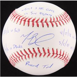Mookie Betts Signed LE OML Baseball with Multiple Inscriptions (Fanatics Hologram)