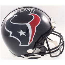 J.J. Watt Signed Texans Full-Size Authentic On-Field Helmet (JSA COA, Denver Autographs COA  Watt Ho